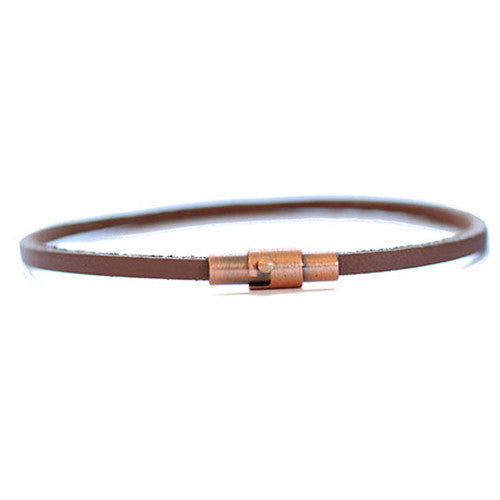 Brown Thin Leather Bracelet | Tortuga