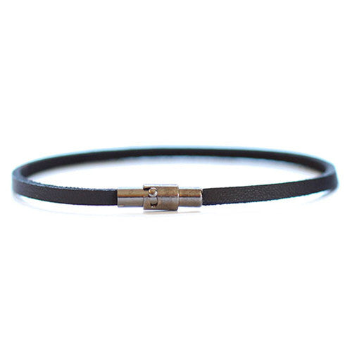 Thin Black Leather Bracelet | Rincon