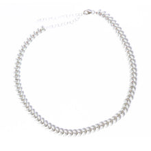 Silver and White Wheat Choker | Turqs and Caicos