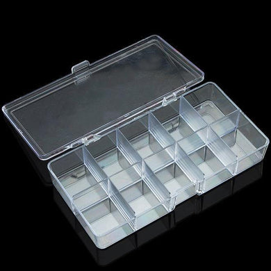 Acrylic Clear Compartment Storage Box - Small