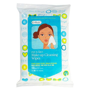 Cettua - Make-up Cleansing Wipes - 15 Wipes Per Bag