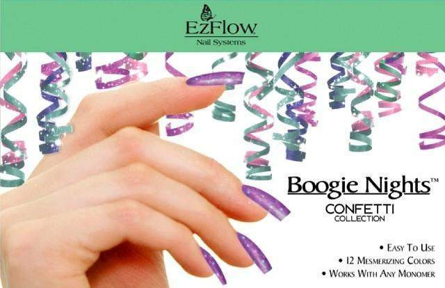Ez Flow, Ez Flow Boogie Nights Collection - Confetti Kit, Mk Beauty Club, Colored Acrylic Powder