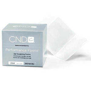 CND - Performance Forms - Gel Sculpting Forms Clear 300 Labels