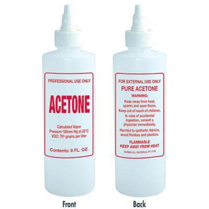 Soft N Style- Imprinted Nail Solution Bottle - Acetone - 8oz