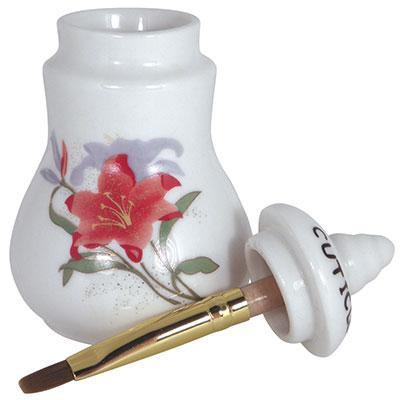DL Professional, DL Pro - Small Cuticle Oil Jar with Brush, Mk Beauty Club, Oil Container
