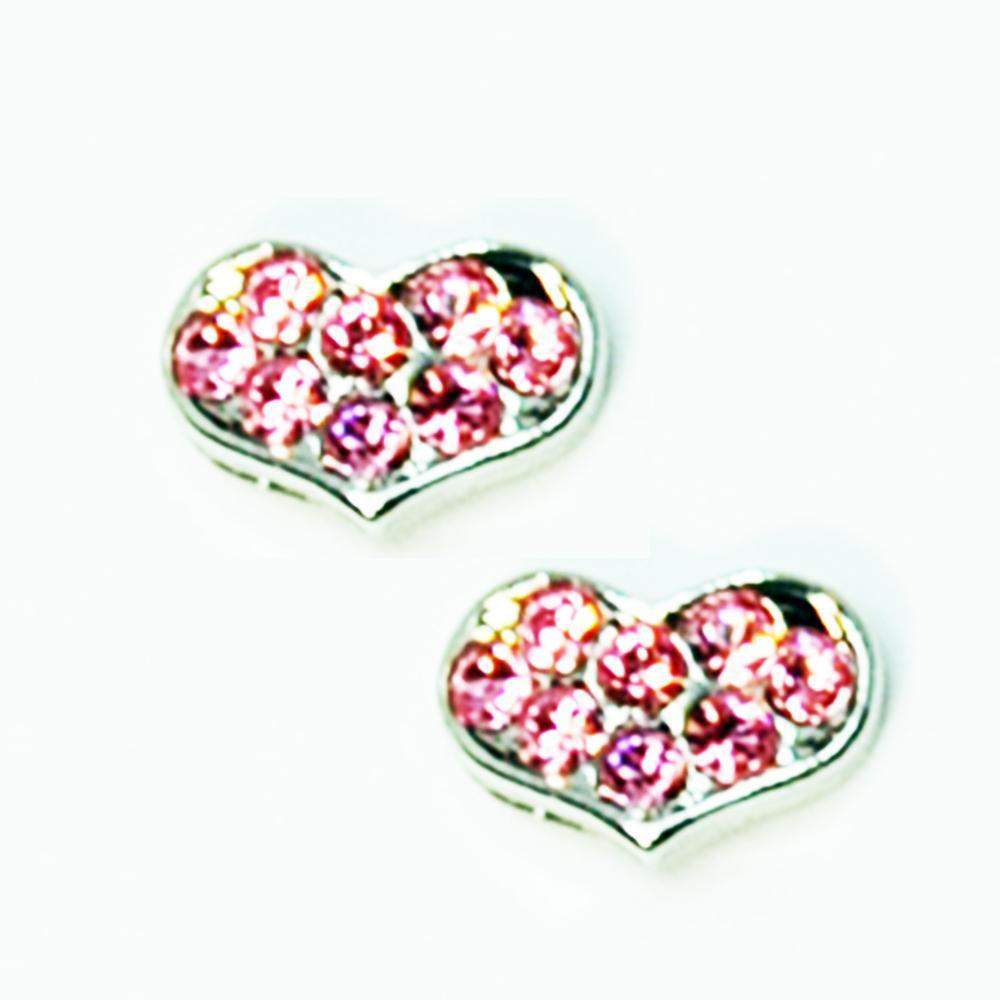 Fuschia, Fuschia Nail Art - Heart Small - Silver/Pink, Mk Beauty Club, Nail Art