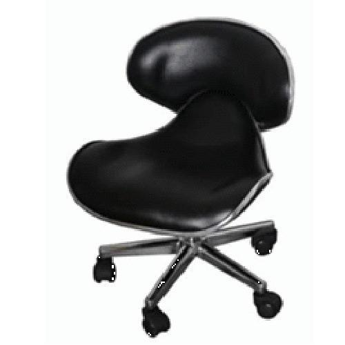 Ikonna - Manicure Ergonomic Stool - Black