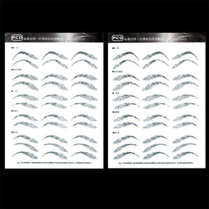 Semi Permanent Tattoo Makeup - Paper Stencil Sheet - Double Sided
