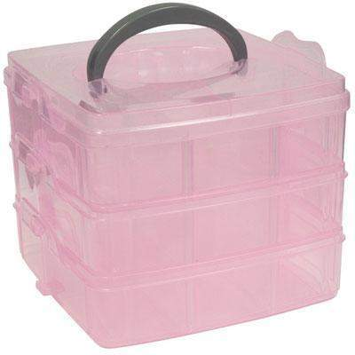 DL Professional, DL Pro - 3 Tier Storage Box, Mk Beauty Club, Carrying Case