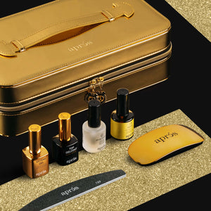Apres Nail, Chaun Legend x Apres Gel-X Kit with Tips - Sculpted Tapered Coffin Extra Long Tips, Mk Beauty Club, Sculpting Gel Set