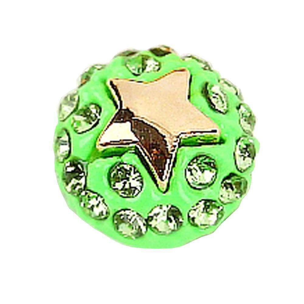 Fuschia, Fuschia Nail Art Charms - Ball & Star - Neon Green, Mk Beauty Club, Nail Art Charms
