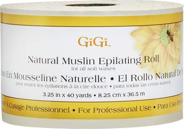 GiGi, Gigi Natural Muslin Roll - 3.25 in x 40yd, Mk Beauty Club, Muslin Roll