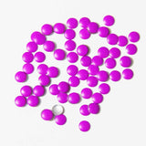 Fuschia Nail Art - Neon Purple Studs - Medium Circle