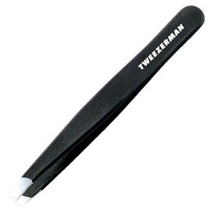 Tweezerman - Stainless Steel Slant Tweezer - Black