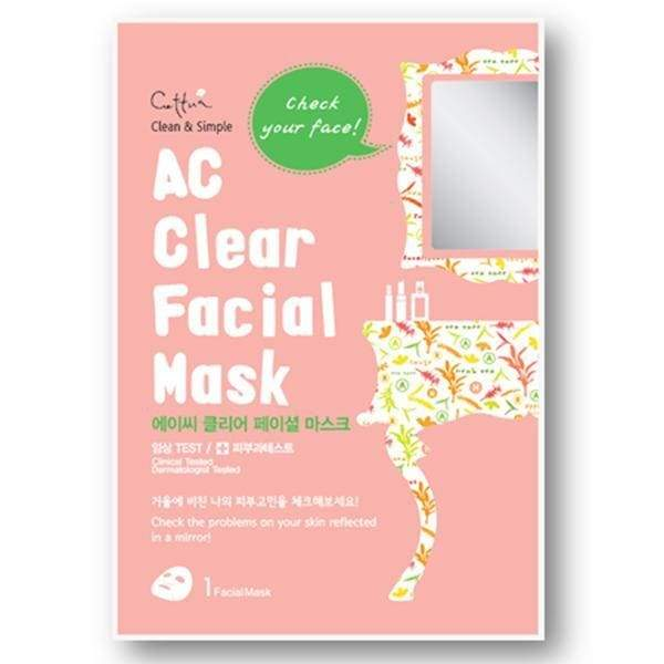 Cettua, Cettua - AC Clear Facial Mask - 3 sheets, Mk Beauty Club, Sheet Mask