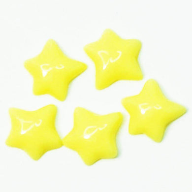 Fuschia Nail Art - Plastic Star - Yellow