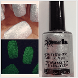 Republic Nail - Glow in the Dark Nail Polish- Silver