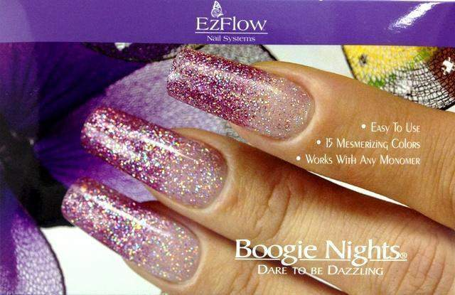 Ez Flow, Ez Flow Boogie Nights Collection - Dare To Be Dazzling Kit, Mk Beauty Club, Colored Acrylic Powder