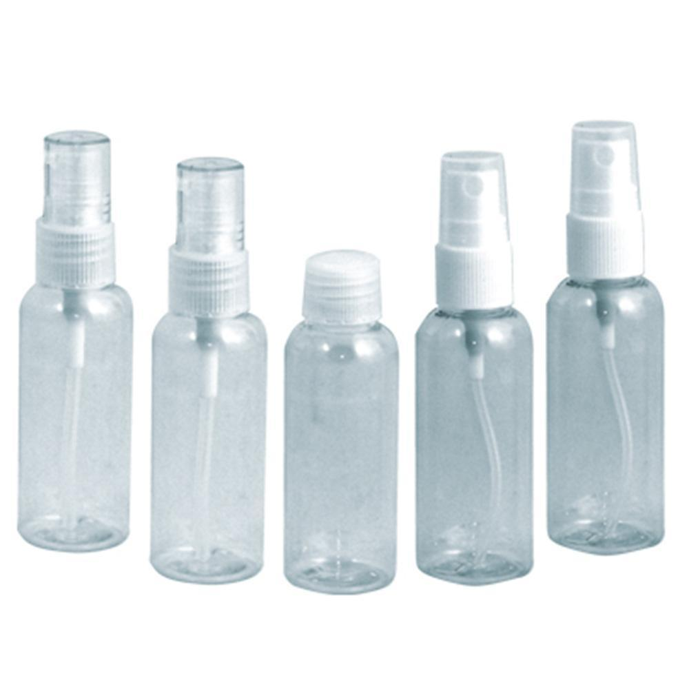 Soft N Style, Soft N Style- Clear Travel Bottle Set 2 oz - 5pc, Mk Beauty Club, Bottles / Pumps