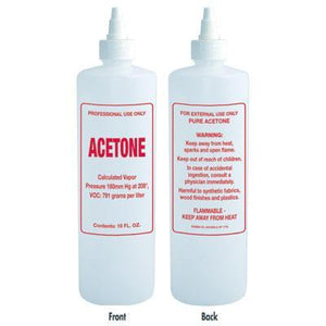 Soft N Style- Imprinted Nail Solution Bottle - Acetone - 16oz