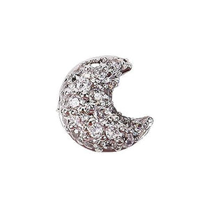 Fuschia Nail Art - Moon - Silver Small
