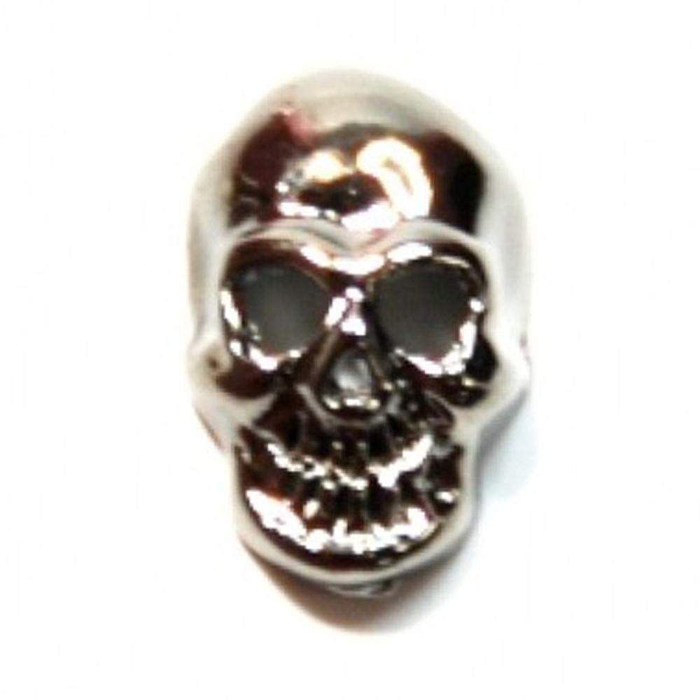 Fuschia, Fuschia Nail Art - Skull - Black, Mk Beauty Club, Nail Art