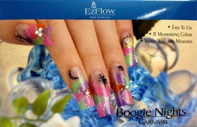 Ez Flow, Ez Flow Boogie Nights Collection - Carnival Kit, Mk Beauty Club, Colored Acrylic Powder