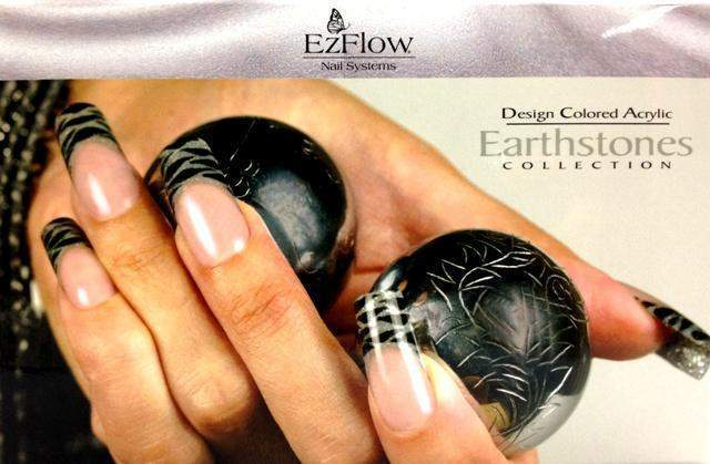 Ez Flow, Ez Flow Colored Acrylic Collection - Earthstones Kit, Mk Beauty Club, Colored Acrylic Powder