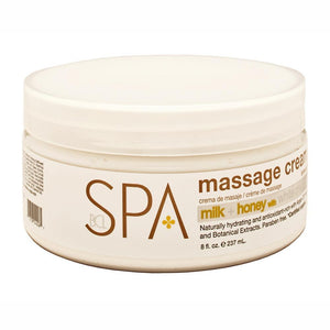 BCL SPA - Milk + Honey with White Chocolate Massage Cream - 8oz