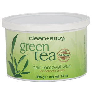 Clean+Easy - Green Tea with Aloe Vera - Hair Removal Wax 14oz