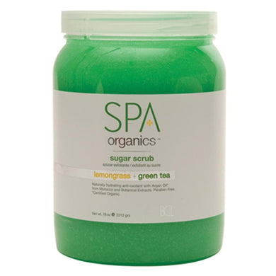 BCL SPA - Lemongrass + Green Tea Sugar Scrub - 64oz
