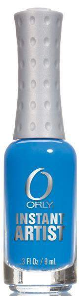 Orly, Orly Instant Artist - Hot Blue, Mk Beauty Club, Nail Art