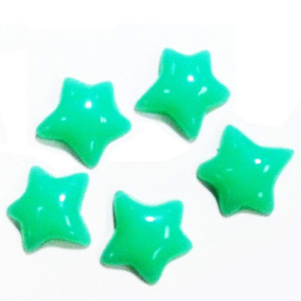 Fuschia Nail Art - Plastic Star - Green