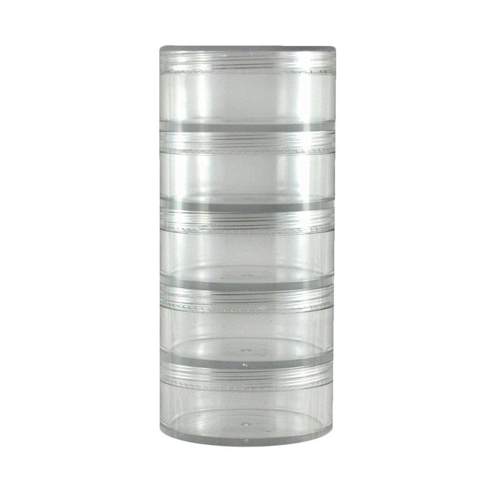 Clear 5-Tier Stackable Jar 3mL