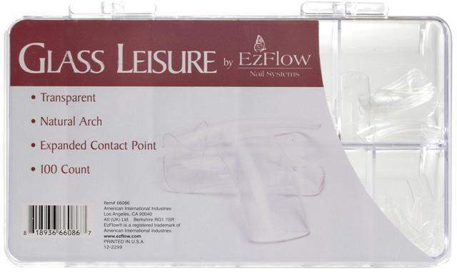 Ez Flow, EZ Flow Glass Leisure Tips - 100ct, Mk Beauty Club, Nail Tips