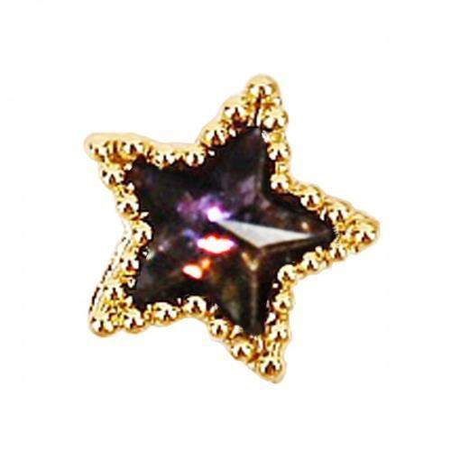 Fuschia, Fuschia Nail Art Charms -  Galaxy Star - Purple, Mk Beauty Club, Nail Art Charms