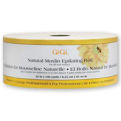 GiGi, Gigi Natural Muslin Roll - 2.5 in x 100yd, Mk Beauty Club, Muslin Roll