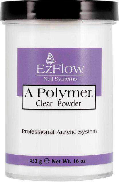 Ez Flow, EZ Flow A Polymer Clear Powder - 16oz, Mk Beauty Club, Acrylic powder