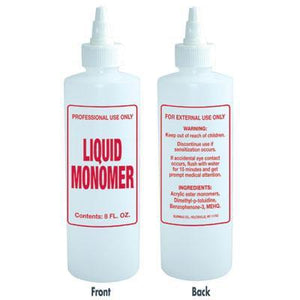 Soft N Style- Imprinted Nail Solution Bottle Liquid Monomer - 8oz