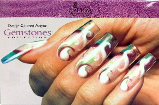Ez Flow, Ez Flow Colored Acrylic Collection - Gemstones Kit, Mk Beauty Club, Colored Acrylic Powder