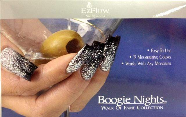 Ez Flow, Ez Flow Boogie Nights Collection - Walk Of Fame Kit, Mk Beauty Club, Colored Acrylic Powder