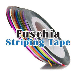 Fuschia Nail Art - Striping Tape - Gold