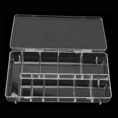 Acrylic Clear Compartment Storage Box - Large