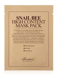 Benton Snail Bee High Content Mask Pack of 10