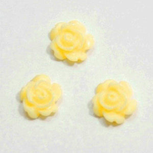 Fuschia Nail Art - Yellow Roses
