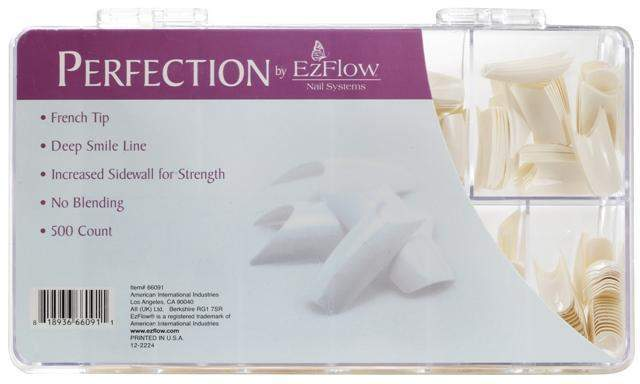 Ez Flow, EZ Flow Perfection French Tips - 500ct, Mk Beauty Club, Nail Tips