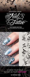Dashing Diva Nail Tattoo - Fluttering Around 1
