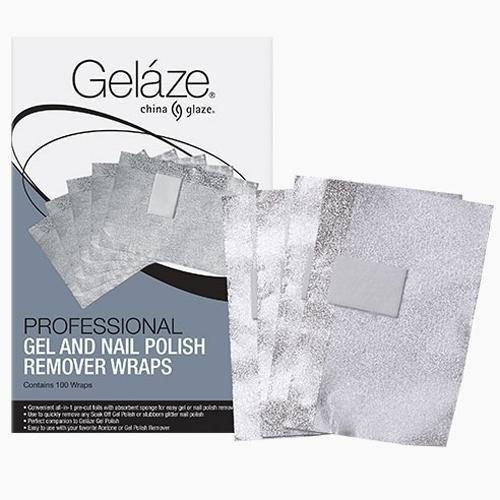 China Glaze Gelaze - Professional Gel & Nail Polish Remover Wraps - 100ct