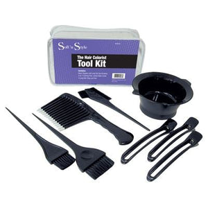 Soft 'N Style Hair Colorist Tool Kit 8 Piece Set