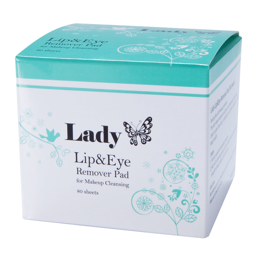 KeiLash, Lady Lip & Eye Remover Pad 80 Sheets, Mk Beauty Club, Makup Remover